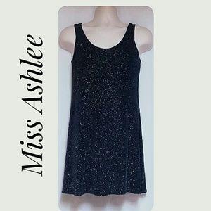 Miss Ashlee Dresses - Miss Ashlee Stretch Sparkle Tank Dress Navy Size S